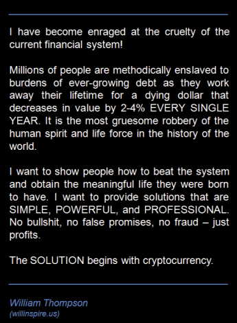 The solution to the slavery of debt begins with cryptocurrency and bitcoin