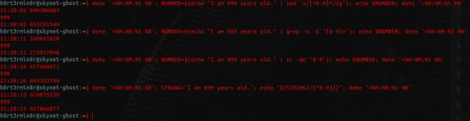 Terminal program execution times test